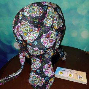 Accessories - Sugar skull biker cap ,do rag NWT perfect gift